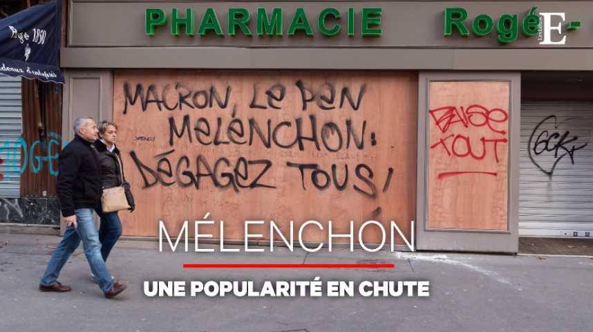 Illustration pour la vidéo La popularité de Mélenchon s'enfonce