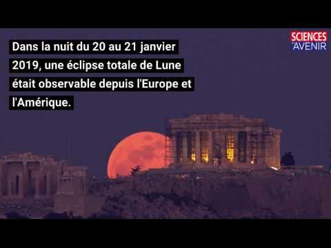 L'éclipse totale de la Lune en images
