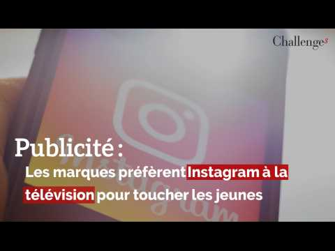 Publicité : Les marques préfèrent Instagram à la télévision pour toucher les jeunes