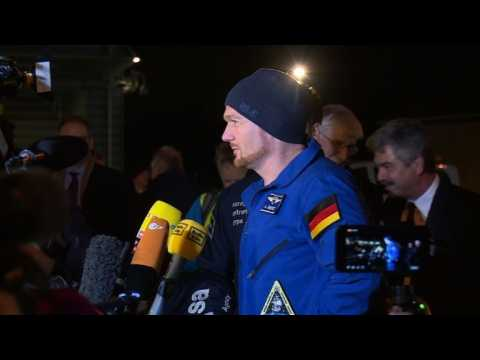 German astronaut arrives home in Cologne after 197 days on ISS