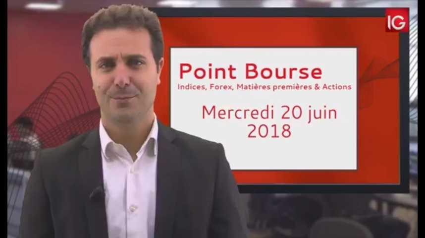 Illustration pour la vidéo Point Bourse IG du mercredi 20 juin