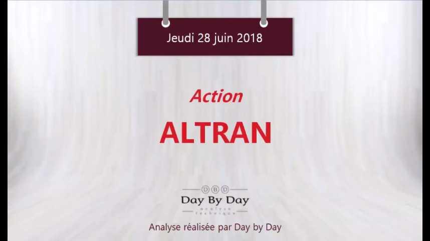 Illustration pour la vidéo Action Altran : une accélération haussière se prépare - Flash analyse IG 28.06.2018