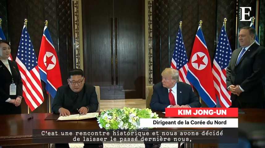 """Illustration pour la vidéo Trump et Kim Jong-un s'engagent dans """"une nouvelle ère"""""""