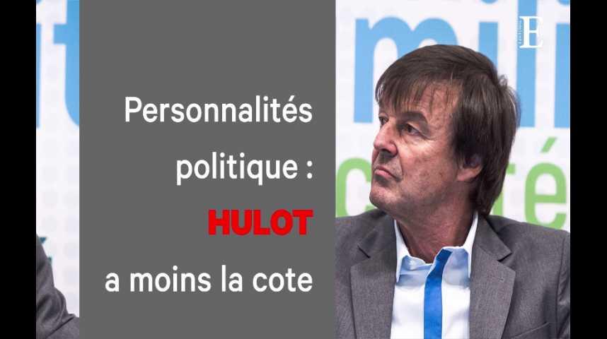 Illustration pour la vidéo Popularité des politiques : la cote de Nicolas Hulot s'effrite