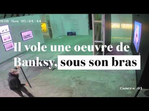 Il vole une oeuvre de Banksy... et part avec sous le bras !