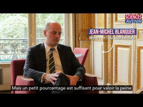 Bande-annonce. L'entretien avec le ministre de l'Education Jean-Michel Blanquer