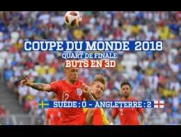 Buts en 3D : Suède - Angleterre (0:2) Coupe du Monde 2018