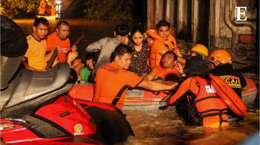 Illustration pour la vidéo Philippines : une tempête fait au moins 240 morts