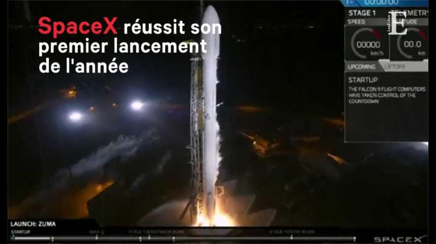 Illustration pour la vidéo SpaceX réussit son premier lancement de l'année