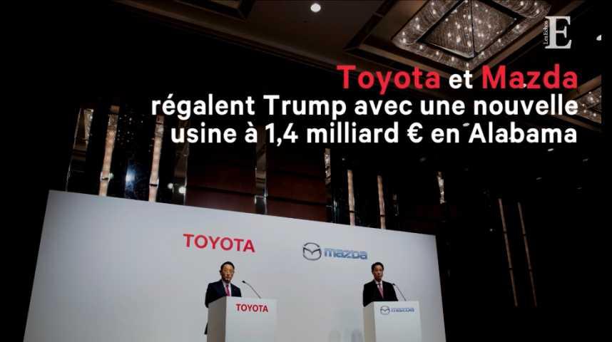 Illustration pour la vidéo Toyota et Mazda régalent Trump avec une nouvelle usine à 1,4 milliard d'euros en Alabama