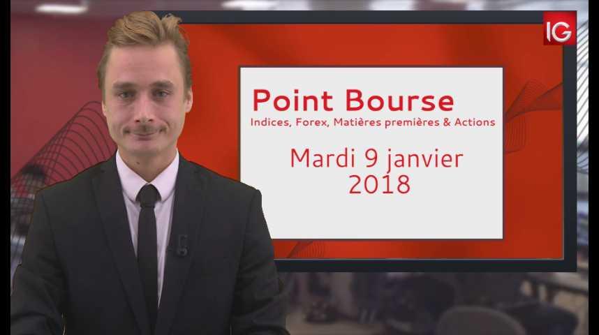 Illustration pour la vidéo Point Bourse IG du 09.01.2018