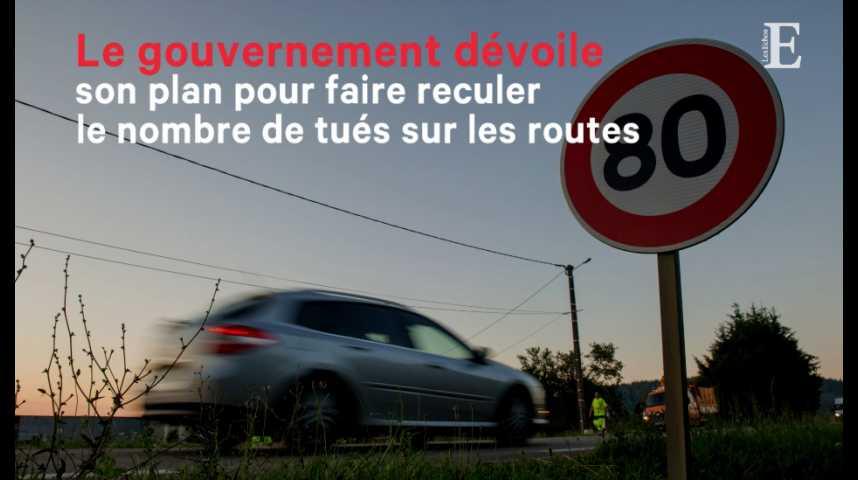 Illustration pour la vidéo Le gouvernement dévoile son plan pour faire reculer le nombre de tués sur les routes