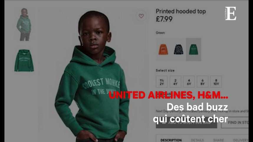 Illustration pour la vidéo United Airlines, H&M... Des bad buzz qui coûtent cher