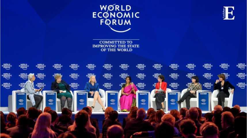 Illustration pour la vidéo Qui sont les 7 femmes mises à l'honneur à Davos ?