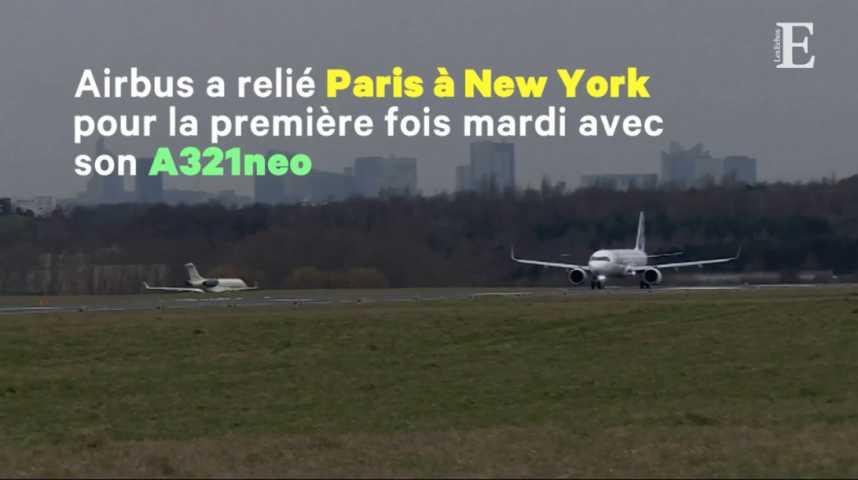 Illustration pour la vidéo Airbus s'attaque aux vols transatlantiques low cost