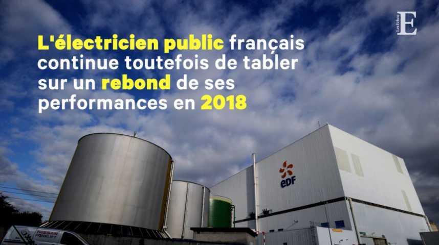 Illustration pour la vidéo EDF, à la peine en 2017, reste optimiste pour 2018