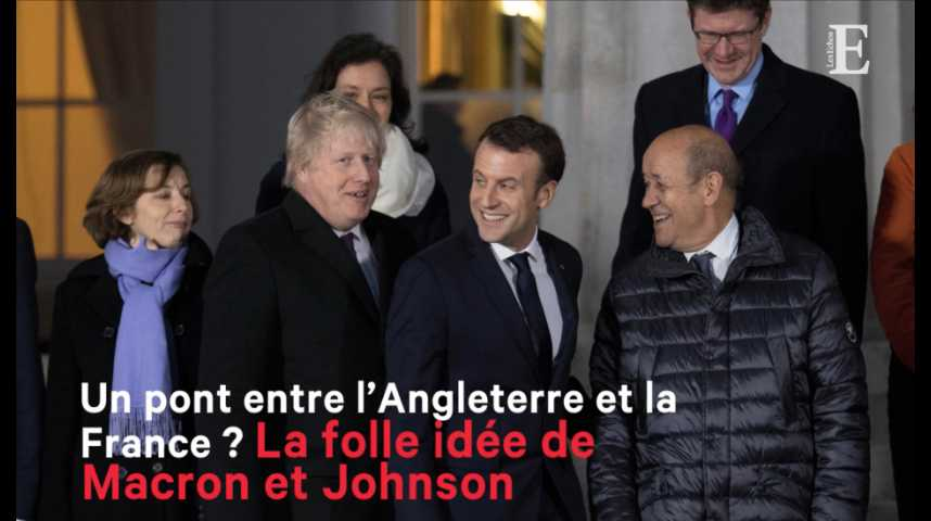 Illustration pour la vidéo Un pont entre l'Angleterre et la France ? La folle idée de Macron et Johnson