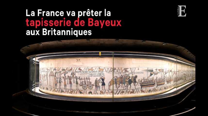 Illustration pour la vidéo La France va prêter la tapisserie de Bayeux aux Britanniques