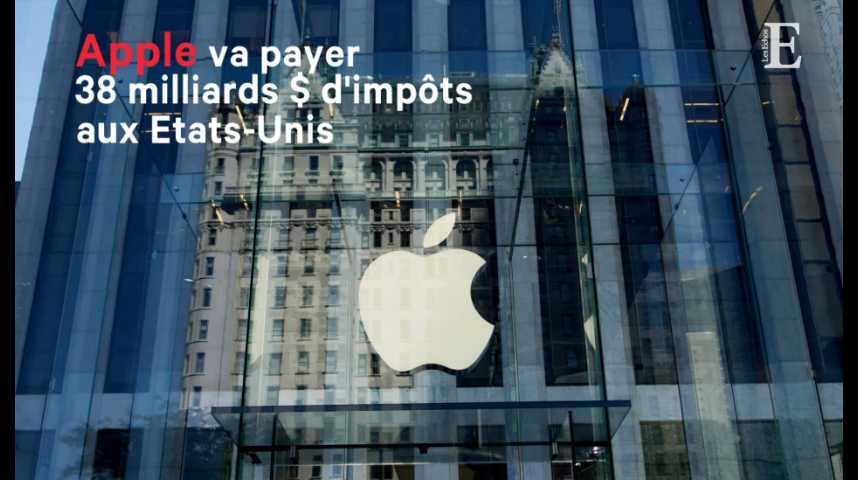 Illustration pour la vidéo Apple va payer 38 milliards de dollars d'impôts aux Etats-Unis