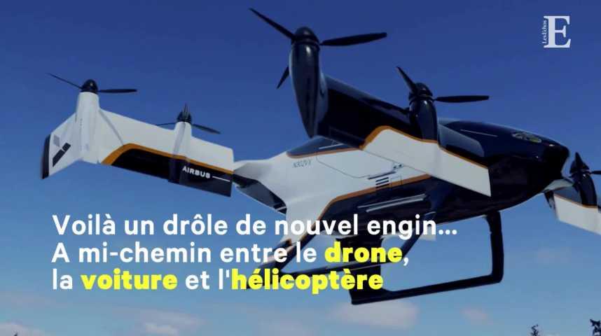Illustration pour la vidéo Premier vol test réussi pour le drone taxi d'Airbus