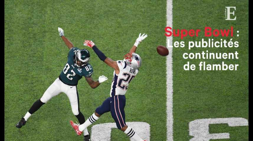 Illustration pour la vidéo Les publicités du Super Bowl continuent de flamber