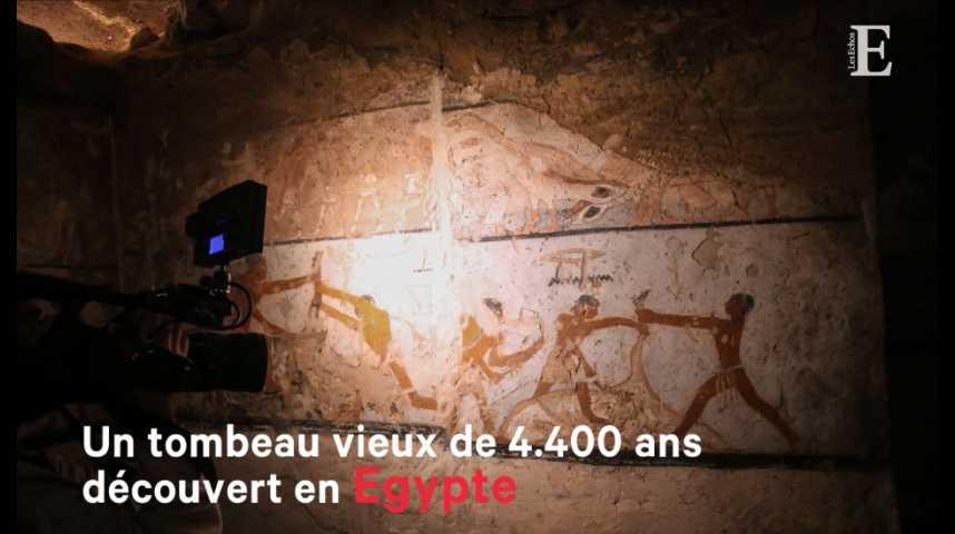Illustration pour la vidéo Un tombeau vieux de 4.400 ans découvert en Egypte