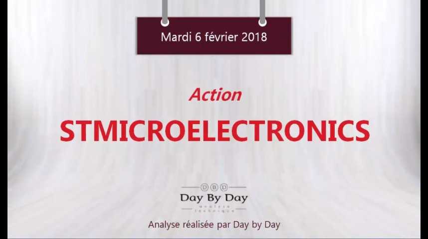 Illustration pour la vidéo Action STMicroelectronics : au contact d'un support majeur - Flash analyse IG 06.02.2018
