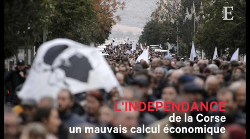 Illustration pour la vidéo L'indépendance de la Corse, un mauvais calcul économique