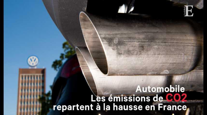 Illustration pour la vidéo Automobile : les émissions de CO2 repartent à la hausse en France