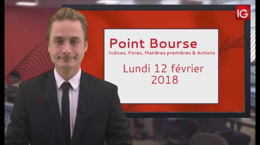 Illustration pour la vidéo Point Bourse IG du 12.02.2018