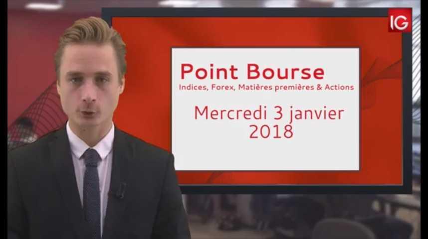 Illustration pour la vidéo Point Bourse IG du 03.01.2018