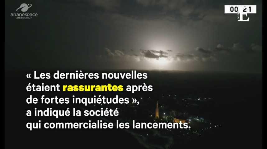 Illustration pour la vidéo Arianespace met deux satellites en orbite… au mauvais endroit