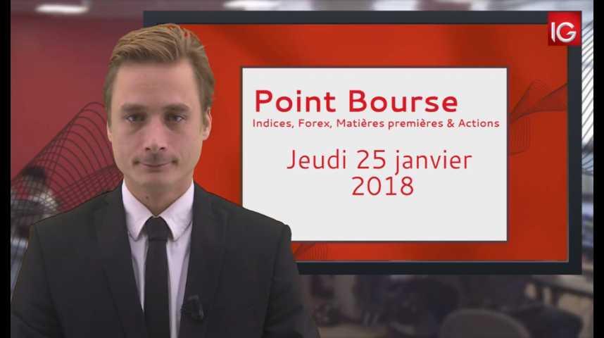 Illustration pour la vidéo Point Bourse IG 25.01 2018