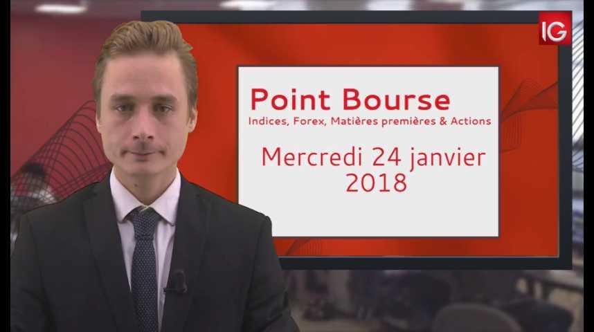 Illustration pour la vidéo Point Bourse IG 24 01 2018