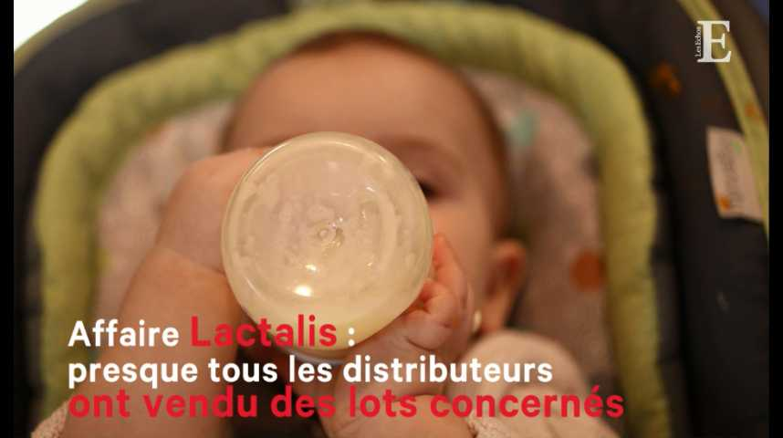Illustration pour la vidéo Lactalis : presque tous les distributeurs éclaboussés