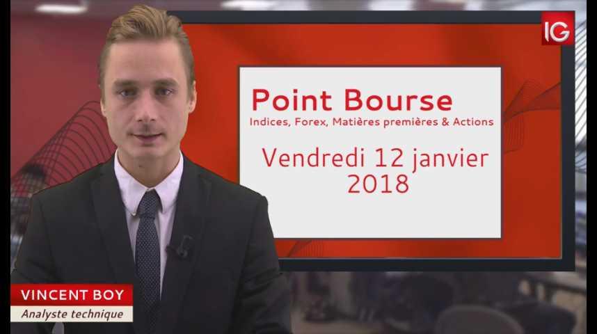 Illustration pour la vidéo Point Bourse IG du 12.01.2018