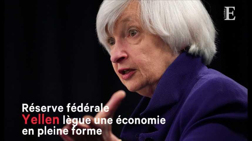 Illustration pour la vidéo Fed : Yellen lègue une économie en pleine forme