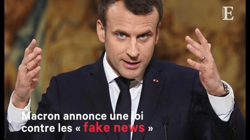 Illustration pour la vidéo Macron annonce une loi contre les « fake news »