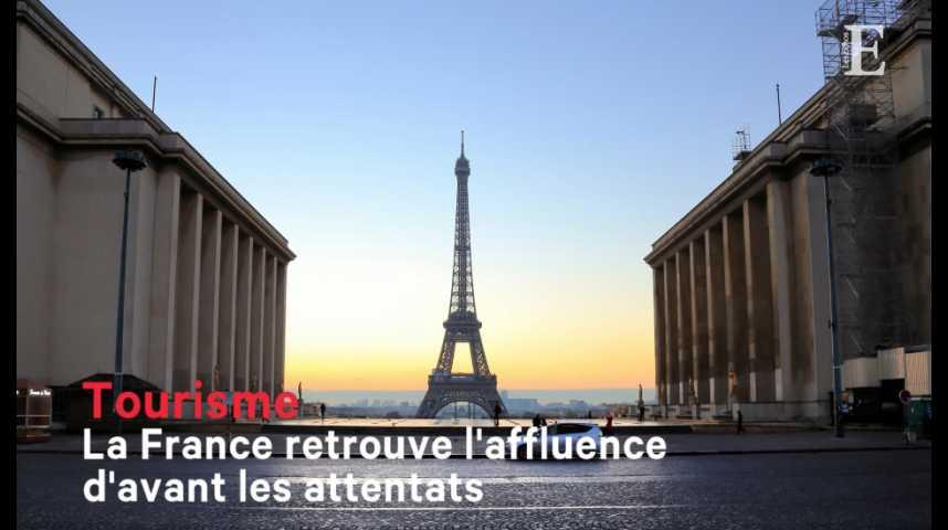 Illustration pour la vidéo Tourisme : la France retrouve l'affluence d'avant les attentats