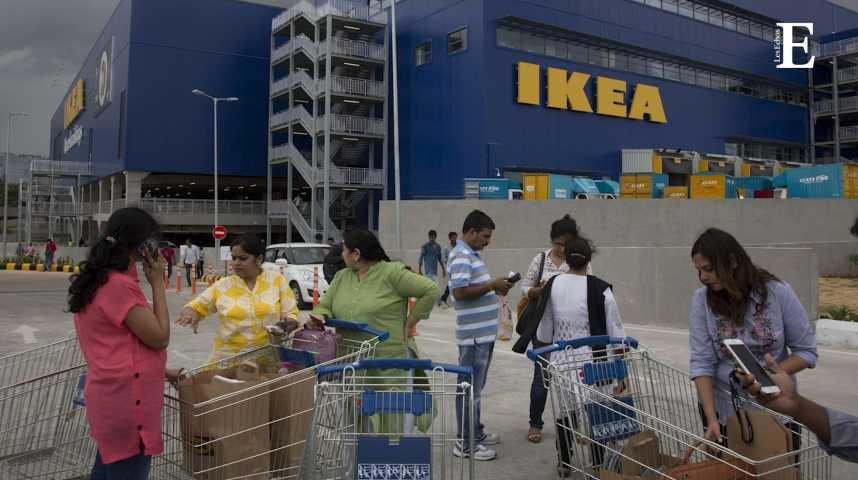 Illustration pour la vidéo Ouverture en fanfare du premier Ikea d'Inde