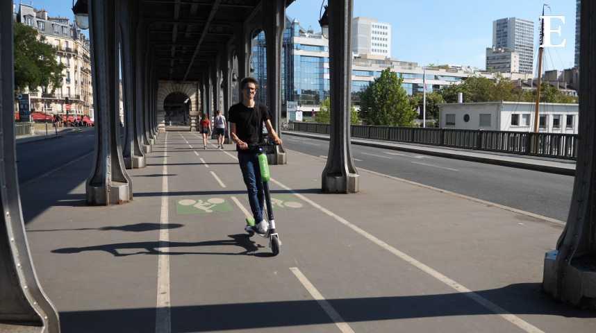 Illustration pour la vidéo Les trottinettes électriques à la conquête des villes