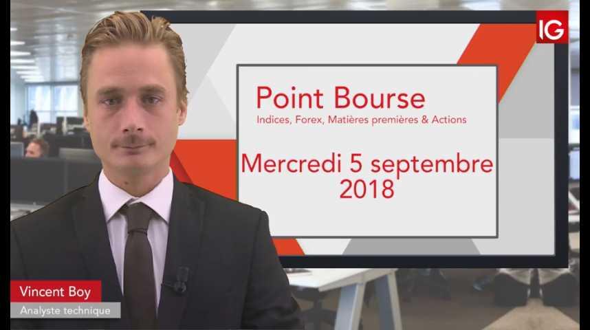 Illustration pour la vidéo Point Bourse IG du mercredi 5 septembre