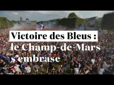 Les Bleus champions du monde : le Champs-de-Mars s'embrase