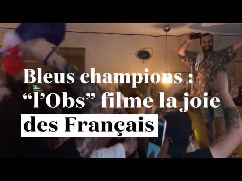 """De Paris à New York : """"l'Obs"""" filme la joie des Français après la victoire des Bleus"""