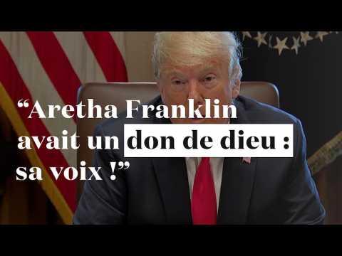 """Trump : """"Aretha Franklin a apporté de la joie à des millions de vies"""""""