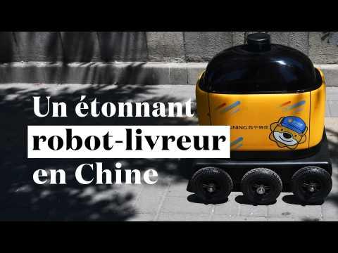 Ce mini-robot connecté livre des colis à Pékin