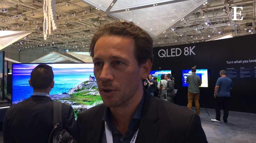 Illustration pour la vidéo Samsung lancera ses téléviseurs 8K en octobre