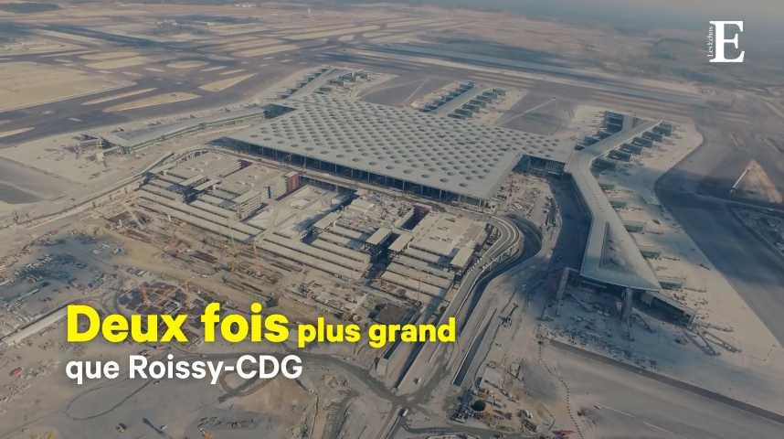 Illustration pour la vidéo Le plus grand aéroport du monde ouvre ses portes à Istanbul