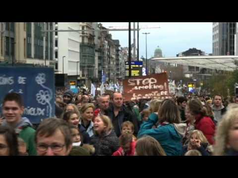 People in Brussels march for climate justice ahead of COP24
