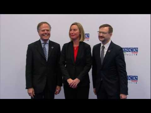 Ministers for Foreign Affairs of the OSCE arrive in Milan